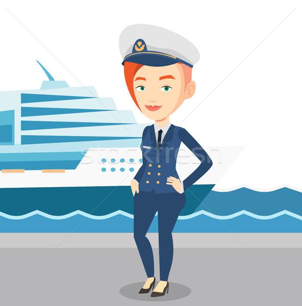 Uśmiechnięty statku uniform portu stałego statek wycieczkowy Zdjęcia stock © RAStudio
