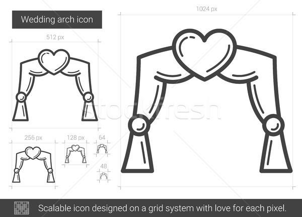 Esküvő ív vonal ikon vektor izolált Stock fotó © RAStudio