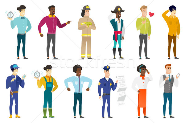 Vector set of professions characters. Stock photo © RAStudio