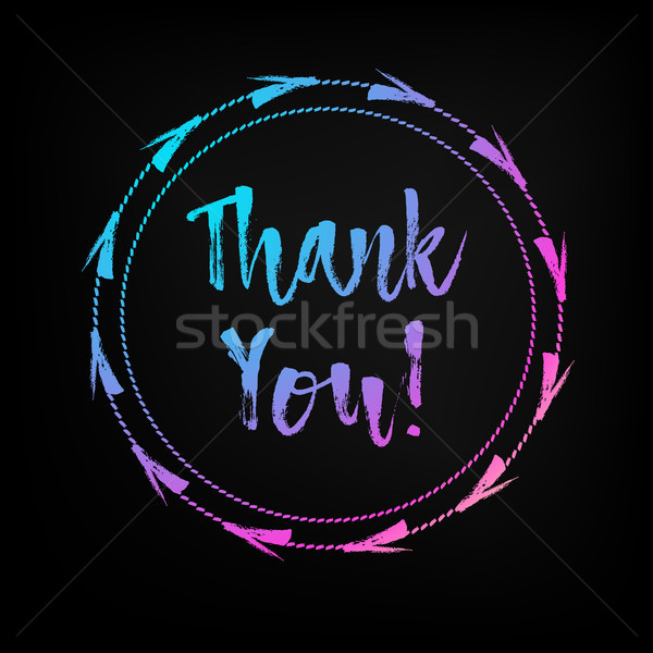 Hand lettered multicolored Thank You text. Stock photo © RAStudio