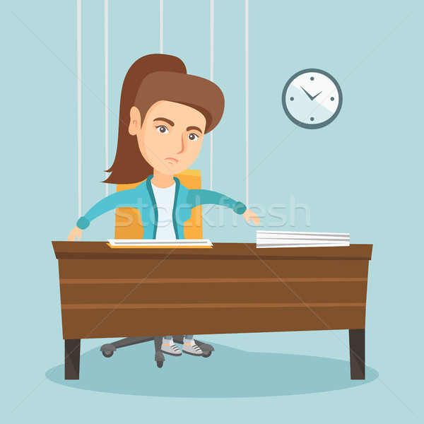 Office worker hanging on strings like marionette. Stock photo © RAStudio