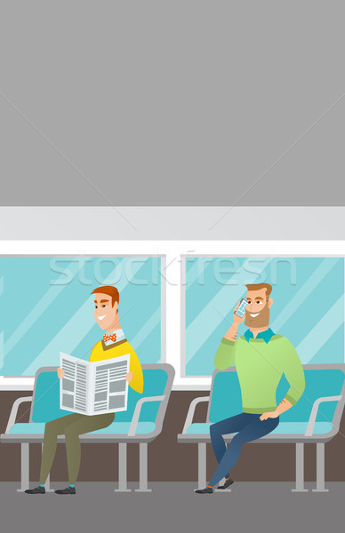 Kaukasisch mensen openbaar vervoer mannen man Stockfoto © RAStudio