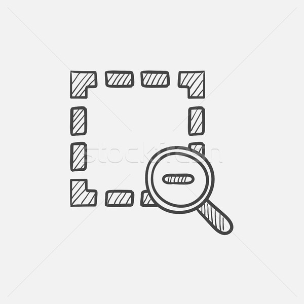 Enfocar fuera boceto icono web móviles Foto stock © RAStudio