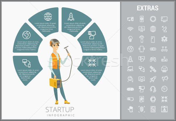 Startup infographic template, elements and icons. Stock photo © RAStudio