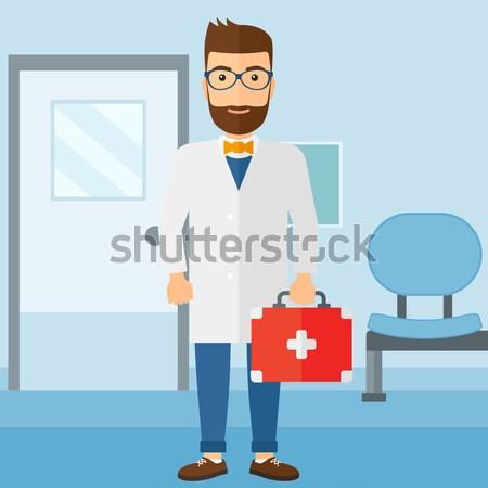 医師 応急処置 ボックス ユニフォーム キット 立って ストックフォト © RAStudio