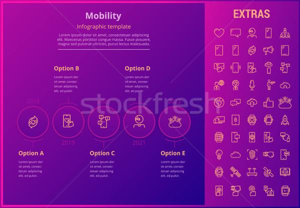 モビリティ インフォグラフィック テンプレート 要素 アイコン オプション ストックフォト © RAStudio