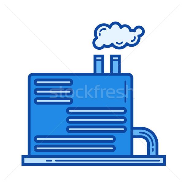 Refinería línea icono vector aislado blanco Foto stock © RAStudio