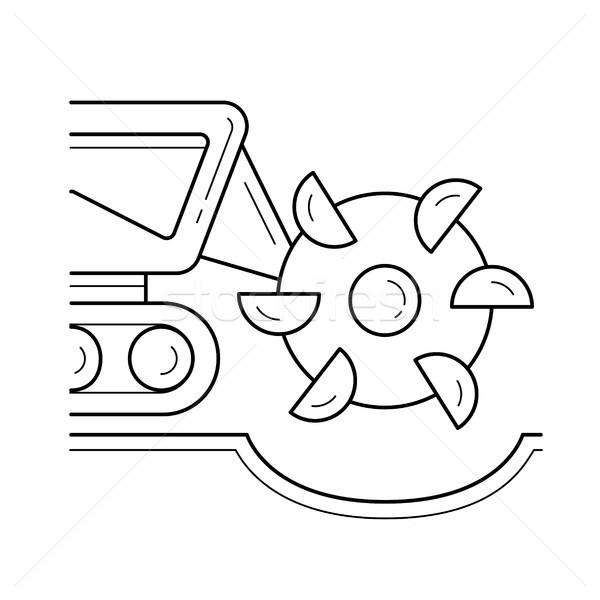 минеральный вектора линия икона изолированный Сток-фото © RAStudio