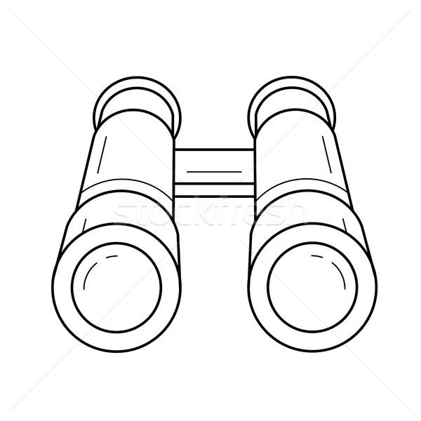 Ontdekkingsreiziger lijn icon vector geïsoleerd witte Stockfoto © RAStudio