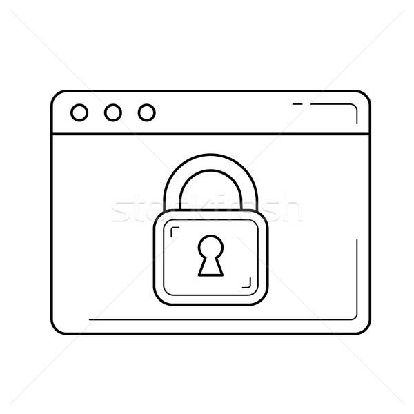 Online security line icon. Stock photo © RAStudio