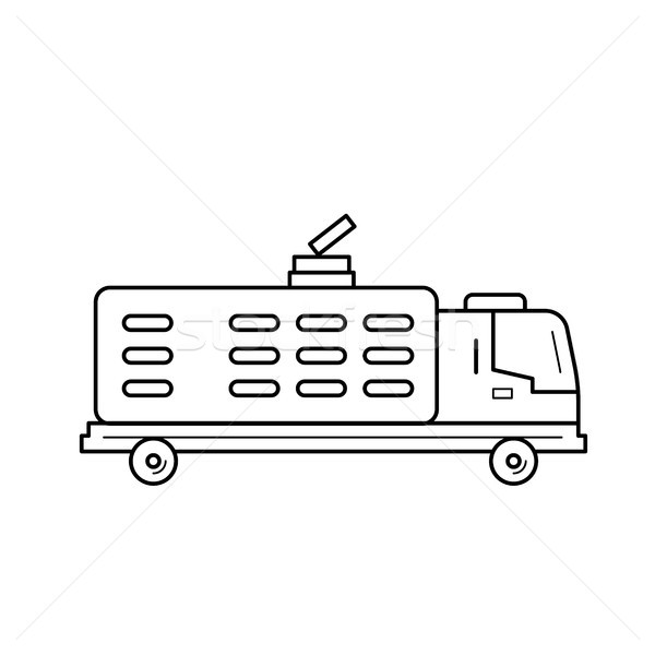 Garbage truck line icon. Stock photo © RAStudio