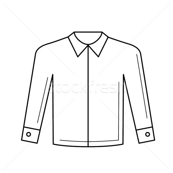 長い シャツ ベクトル 行 アイコン 孤立した ストックフォト © RAStudio