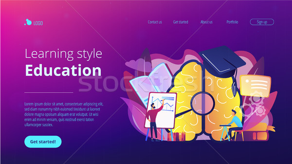 Education and learning style landing page. Stock photo © RAStudio