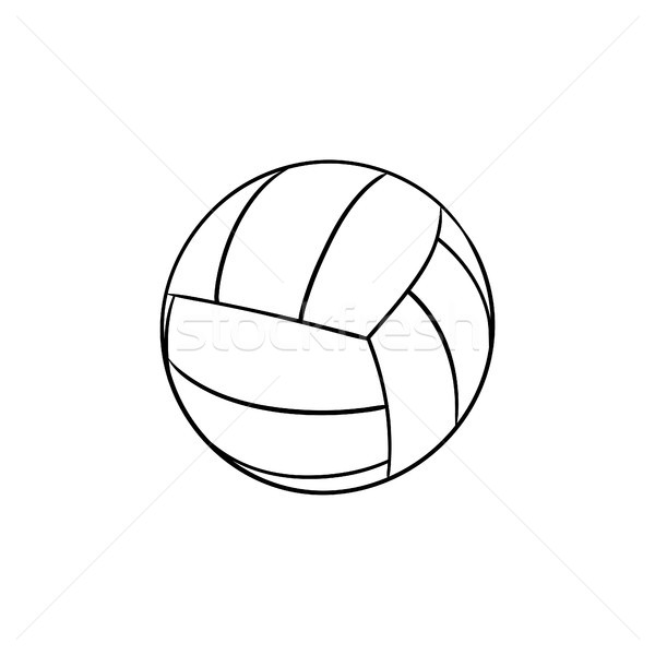 バレーボール ボール 手描き いたずら書き アイコン ストックフォト © RAStudio