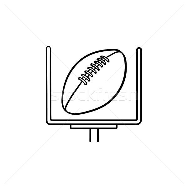 American football goal hand drawn outline doodle icon. Stock photo © RAStudio
