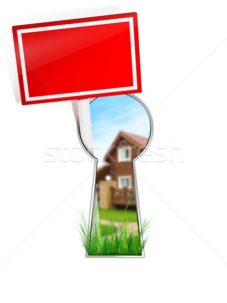 Real Estate Sign Stock photo © RAStudio