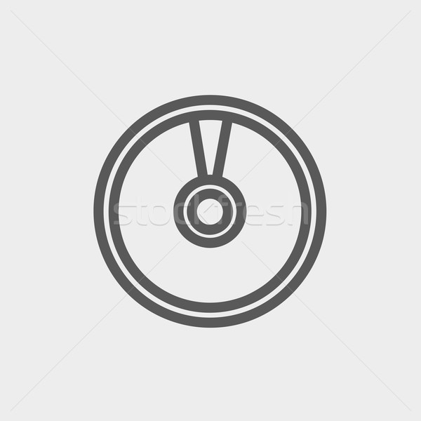 Cd or DVD thin line icon Stock photo © RAStudio
