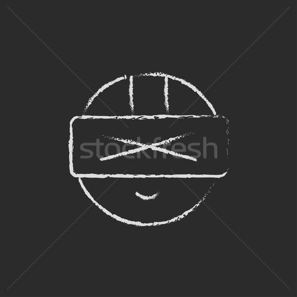 Futuristic headset drawn in chalk Stock photo © RAStudio
