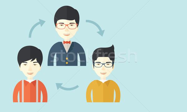 Three young men Stock photo © RAStudio