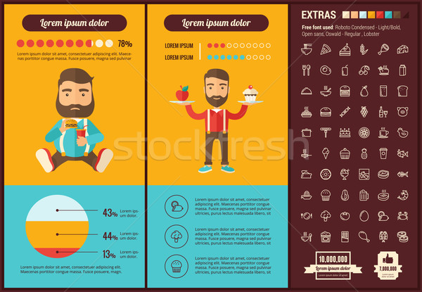 Stock photo: Food flat design Infographic Template