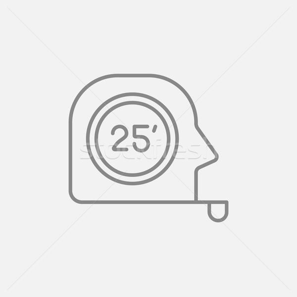 Fita métrica linha ícone teia móvel infográficos Foto stock © RAStudio