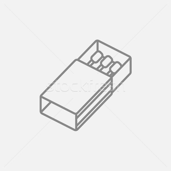 Matchbox line icon. Stock photo © RAStudio