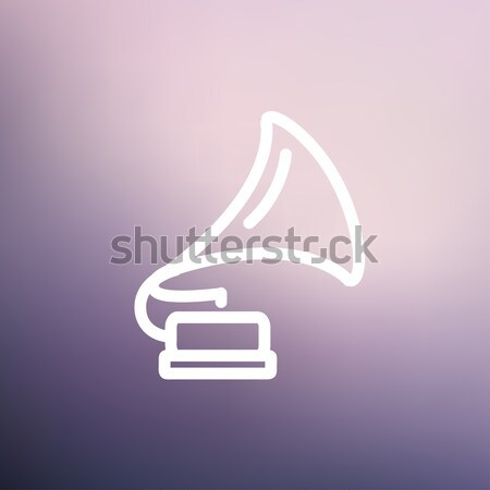 Gramofon hat ikon web hareketli infographics Stok fotoğraf © RAStudio