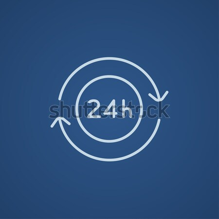 Service 24 hrs line icon. Stock photo © RAStudio
