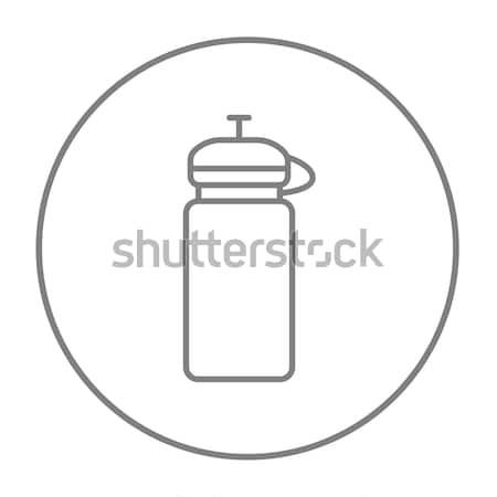 Sport veldfles lijn icon web mobiele Stockfoto © RAStudio