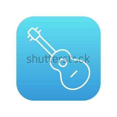 Acoustic guitar line icon. Stock photo © RAStudio