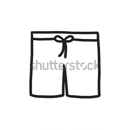 Swimming trunks line icon. Stock photo © RAStudio
