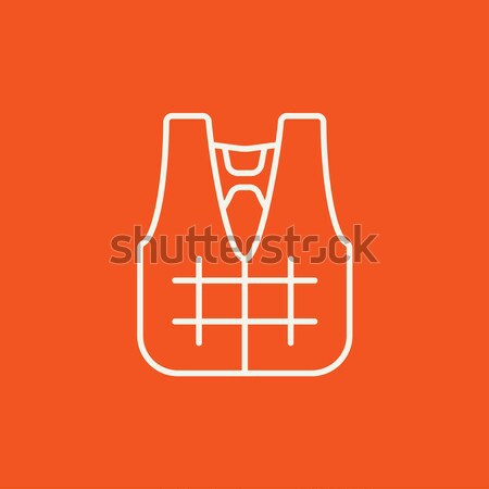 Stock photo: Life vest line icon.