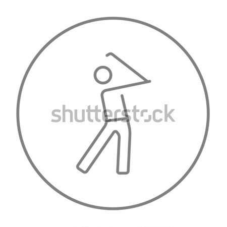 Golfer line icon. Stock photo © RAStudio