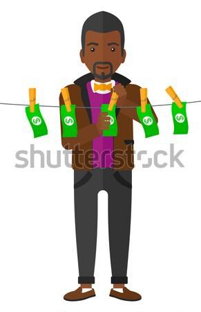 Homem fast-food bandeja completo Foto stock © RAStudio