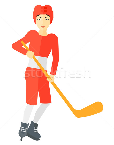 Ice-hockey player with stick. Stock photo © RAStudio