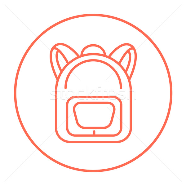 Backpack line icon. Stock photo © RAStudio