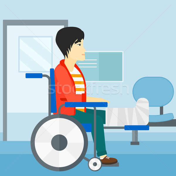 Stock photo: Patient sitting in wheelchair.