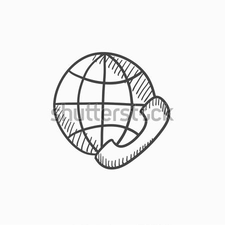 Global communications sketch icon. Stock photo © RAStudio