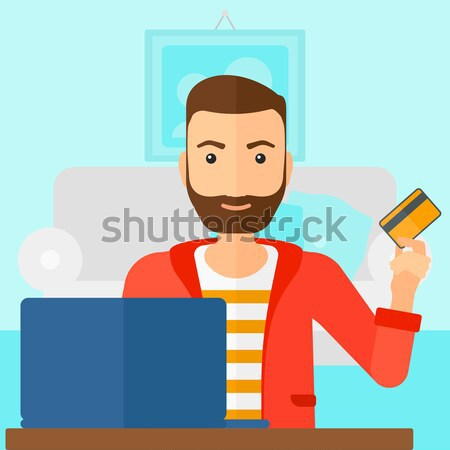 Man making purchases online. Stock photo © RAStudio