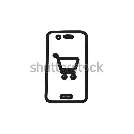 Online shopping sketch icon. Stock photo © RAStudio