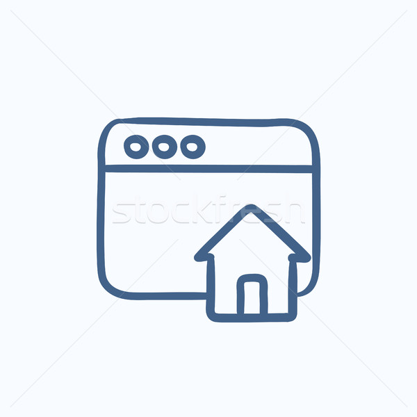 Homepage sketch icon. Stock photo © RAStudio