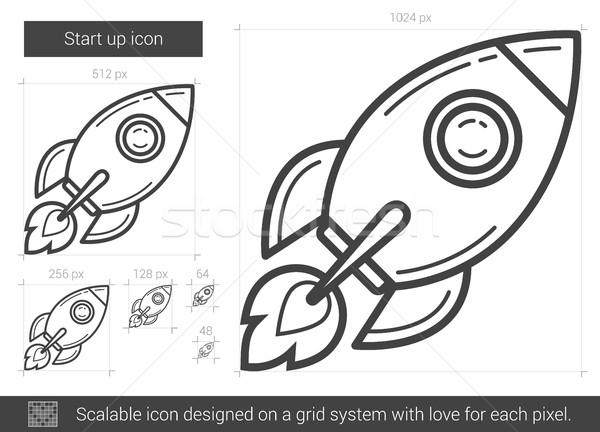 Start up line icon. Stock photo © RAStudio