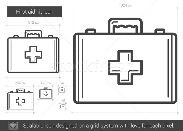 First aid kit line icon. Stock photo © RAStudio