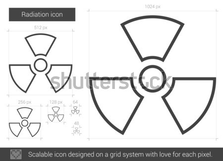 Radiação linha ícone vetor isolado branco Foto stock © RAStudio
