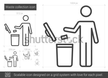 Waste collection line icon. Stock photo © RAStudio