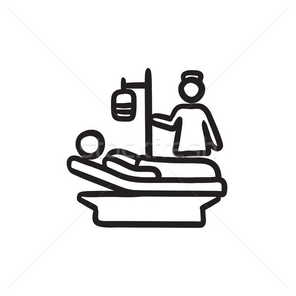 Nursing care sketch icon. Stock photo © RAStudio