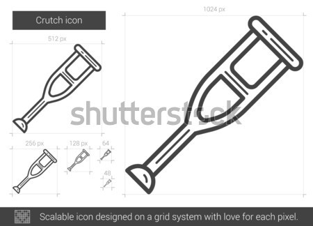 Mankó vonal ikon vektor izolált fehér Stock fotó © RAStudio