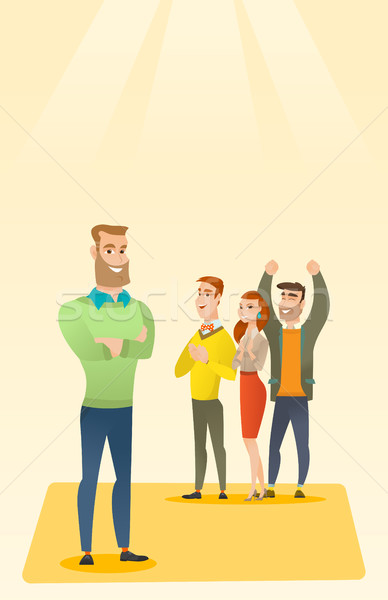 Business people applauding at conference. Stock photo © RAStudio