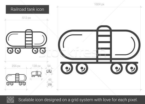 Eisenbahn Tank line Symbol Vektor isoliert Stock foto © RAStudio