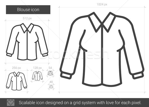 Bluz hat ikon vektör yalıtılmış beyaz bluz Stok fotoğraf © RAStudio